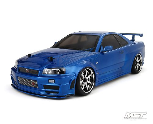 MST Ms-01d RTR 1/10 Scale 4wd Electric Rc Drift Car (2.4g) W/carbody- Nissan R34 Gt-r