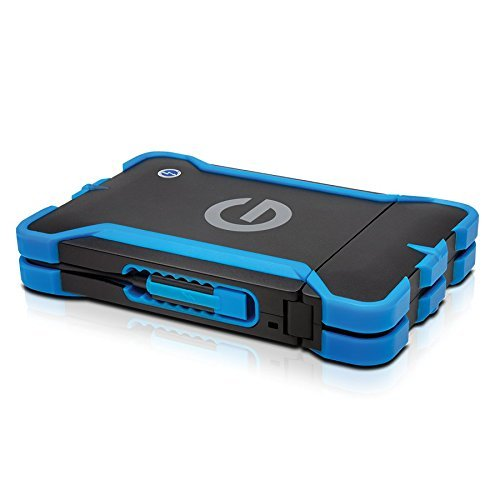 G-Technology G-DRIVE ev ATC with Thunderbolt Portable Hard Drive 1TB (0G03586) by G-Technology