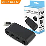 Onvian GameCube Controller Adapter, Super Smash Bros GameCube NGC Controller Adapter for Wii U, Nintendo Switch and PC USB - 4 Ports