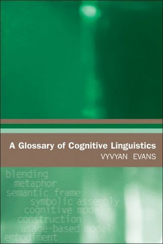 A Glossary of Cognitive Linguistics (Glossaries in Linguistics) por Vyvyan Evans