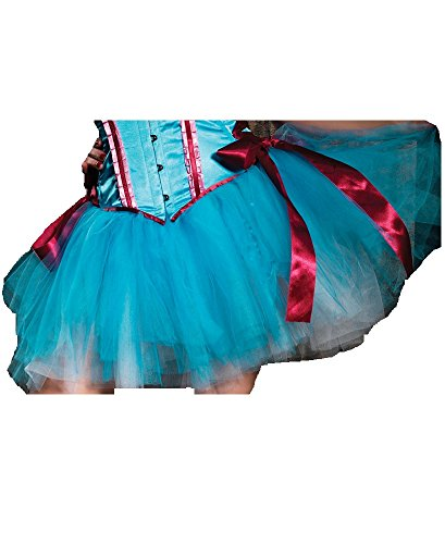 Leg Avenue Layered Duel Color Petticoat Skirt, One Size, - Avenue Leg Bustier