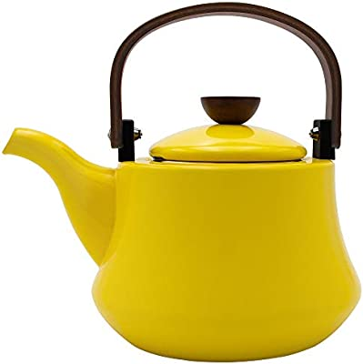 Costa by AIDEA Porcelain Enameled Tea Kettles Whistling Tea Kettle for Stovetop 2-Quart Teapots Red