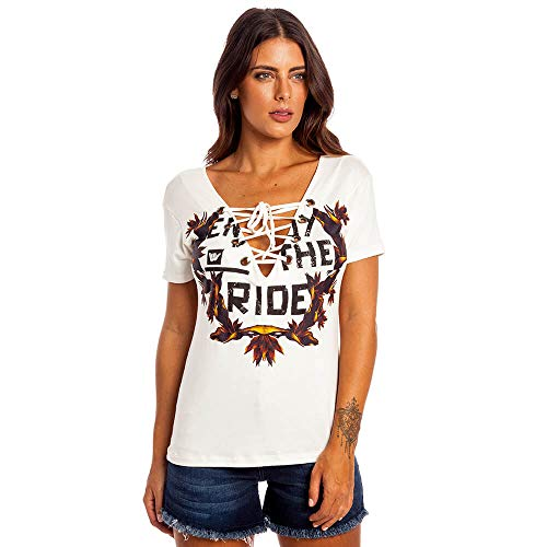 Camiseta Floral Ride Feminino Hang Loose Off White - P