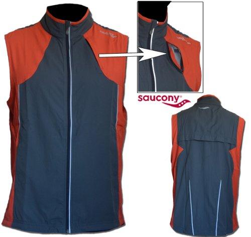 Ärmellose Herren Laufweste / sleeveless running vest men Saucony Soniclite Vest OG
