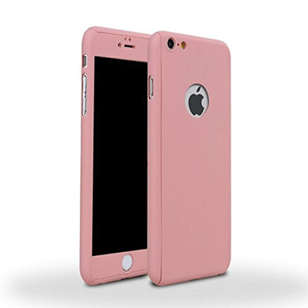 online retailer 9c25f d5be8 Auroralove iPhone 6/6s Full Body Hard Case-Aurora Pink Front and Back Cover  with Tempered Glass Screen Protector for iPhone 6/6s 4.7 Inch