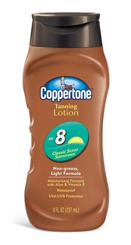 Coppertone Lotion de bronzage, non grasse, formule légère, SPF 8, 8-Fluid Ounce)