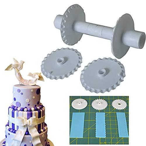Fondant Ribbon Cutter/Sugarcraft Ribbon Cutter & Stitcher/Gumpaste cutter/Sugar cutting lace roller set