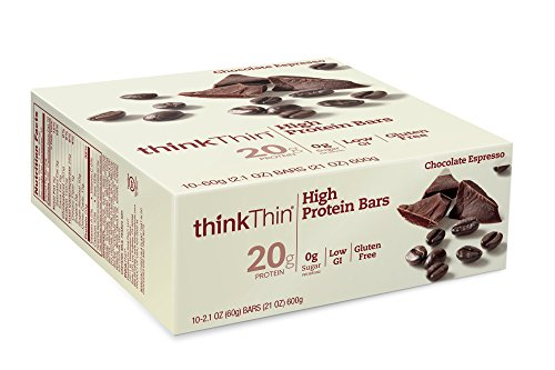 ThinkThin High Protein Bars, Chocolate Espresso, 2.1 Ounce (pack of 10)