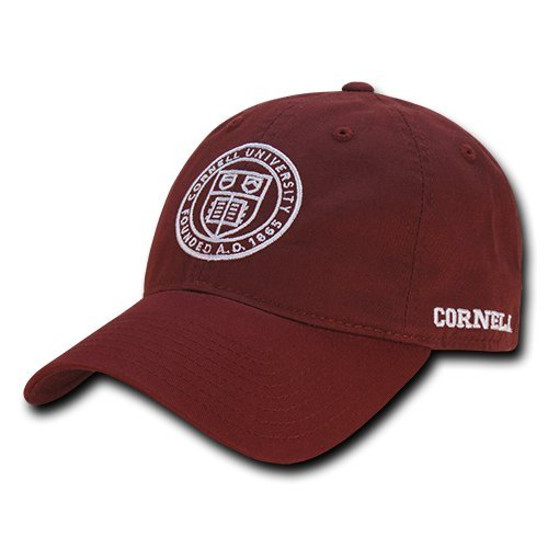 W Republic Apparel Relaxed Cotton Caps, Cornell, Cardinal, One Size from W REPUBLIC APPAREL