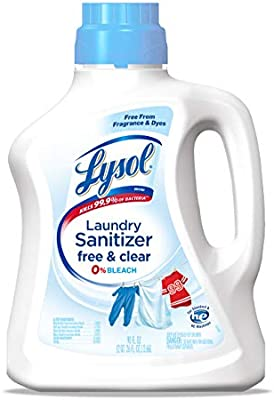 Lysol Lysol Laundry Sanitizer Free Clear Free From Fragrance And Dyes 0 Bleach 90 Fl Oz Amazon Sg Health Personal Care