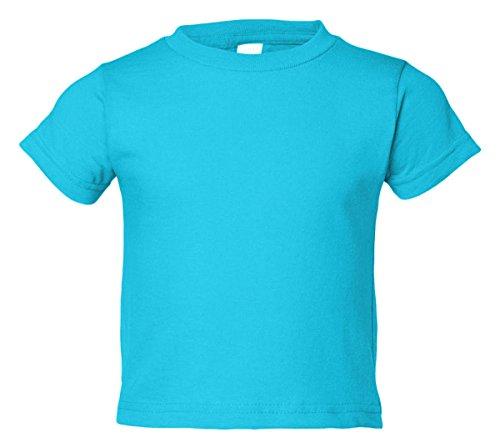 Rabbit Skins boys 5.5 oz. Jersey Short-Sleeve T-Shirt(RS3301)-AQUA-3T Boy Rabbit