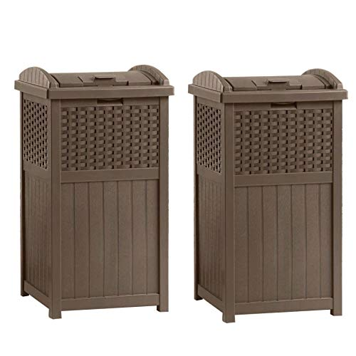 wood outdoor trash can - 5