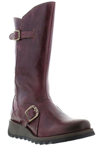 Womens 2 Leather London Boots Fly Mid Mes Purple Calf 6AxTqnI