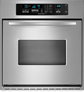 KitchenAid KEBC147VSS 24in Single Wall Oven   Stainless Steel