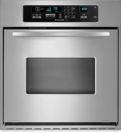 Delicieux KitchenAid KEBC147VSS 24in Single Wall Oven   Stainless Steel