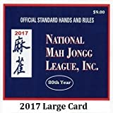 : National Mah Jongg League Large Size Scorecard 2017