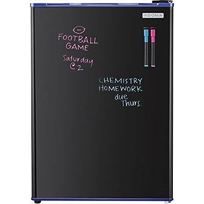 Insignia - 2.6 Cu. Ft. Dry-Erase Mini Fridge - Blue