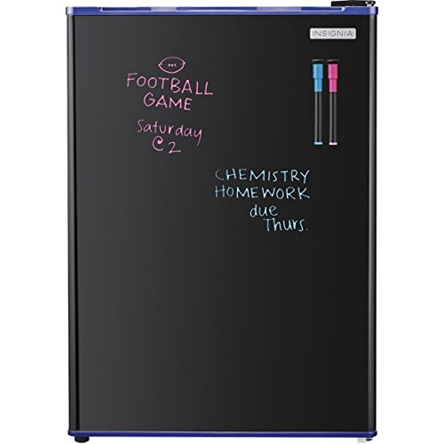 Insignia – 2.6 Cu. Ft. Dry-Erase Mini Fridge – Blue