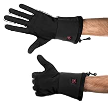 Verseo/ThermoGloves Electric Rechargeable Heated Gloves Thin Enough For Use As Glove Liners (Large/X-Large, Black)