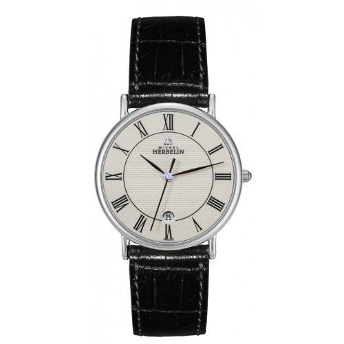 Men's Watch - Michel Herbelin - Leather Band - Water Resistant - 12443/S08