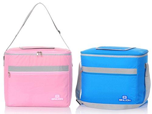 binlion-l36w22h30cm-cooler-bag-2pcs-set-pink-blue-color-with-top-small-window
