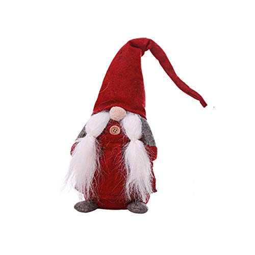 Fashionhe Christmas Gnome Dolls Handmade Presents Figurines Shop Window Decoration(Red,C)]()
