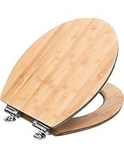 Cornat wc-bril Ligna - hoogwaardig echt hout - comfortabel zitgevoel - elegante houtlook past in elke badkamer/toiletbril/wc-deksel