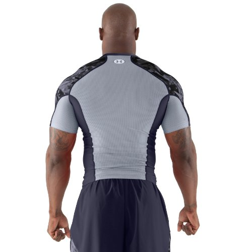 Under Armour Men's NFL Combine Authentic Compression Short Sleeve Small Midnight Navy
