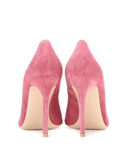 High tacco Spillo Tacco Tacchi donna Suede Scarpe Pink Donna col a Heels Alto Sexy EDEFS Decolte aSUI4q