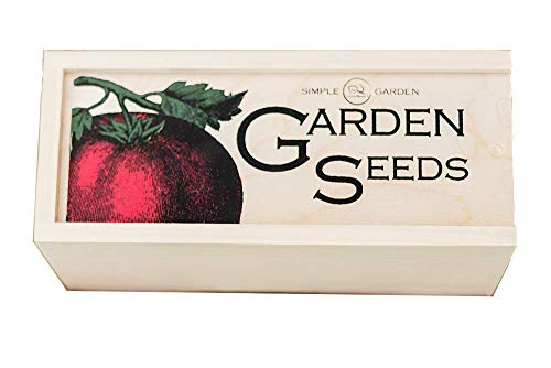 Seed Storage and Organizer Box for Your Garden Seed Packets - New - Tall Size -11.75 L 5.1 Wide 6.5 H - Expertly Crafted in The U.S.A. with Vintage Style Divider Cards to Organize Seeds by Simple Quality (Image #8)