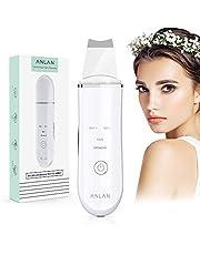 Facial Skin Scrubber,ANLAN 4 in 1 Ultrasone Huidspatel,USB Oplaadbaar Skin Scrubber Spatula Professionele ultrasone comedondrukker