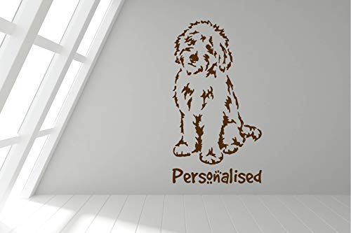 Wall Decals Personalized Cockerpoo - Spaniel Poodle Cross Pet Dog Wall Sticker Decal Art - Any Colour and a Choice of Sizes -