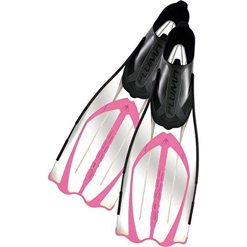 Cressi Pluma, ligero aletas de pie completo para buceo y snorkel–100% Fabricado en Italia., Rosado, 5.5/6.5