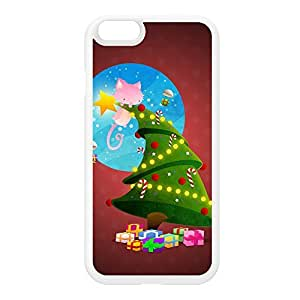 Christmas Tree White Silicon Rubber Case for iPhone 6 by DevilleArt + FREE Crystal Clear Screen Protector