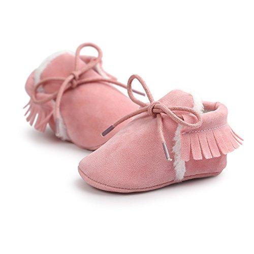 ESTAMICO Baby Mädchen Krabbelschuhe & Puschen grau grau 0-6 Monate Rose