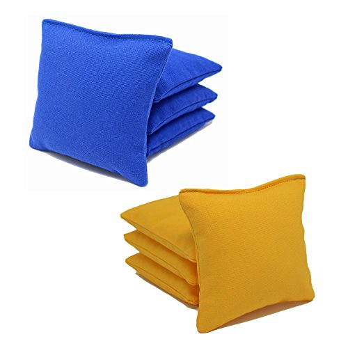 Cornhole Bags Set - (4 Royal Blue, 4 Yellow) By Free Donkey Sports -