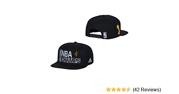 new styles 45a4d 26a35 Amazon.com   Cleveland Cavaliers Black 2016 NBA Finals Champions Locker  Room Champs Snapback Hat   Cap   Clothing