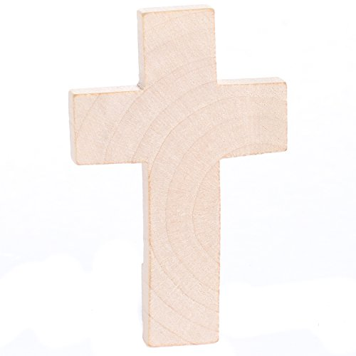 Factory Direct Craft Package of 24 Unfinished Wood Crosses for VBS, Scouts and Bible School Projects