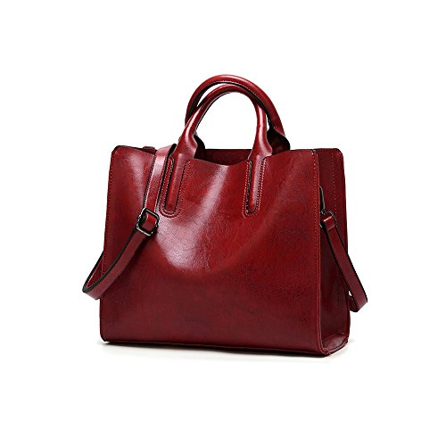 Lady Purses and Handbags Little Bow Leisure Top-Handle Bags Shoulder Bag Purse (Red)