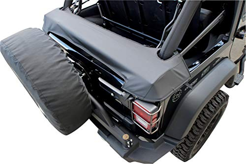 RAMPAGE PRODUCTS 960435 Soft Top Storage Boot for Factory & Replacement Soft Tops on 2007-2018 Jeep Wrangler JK 4-Door, Black Diamond (Best Jk Soft Top)