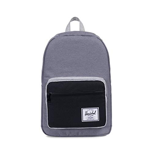 Herschel Pop Quiz Backpack Mid Grey Crosshatch Black One Size
