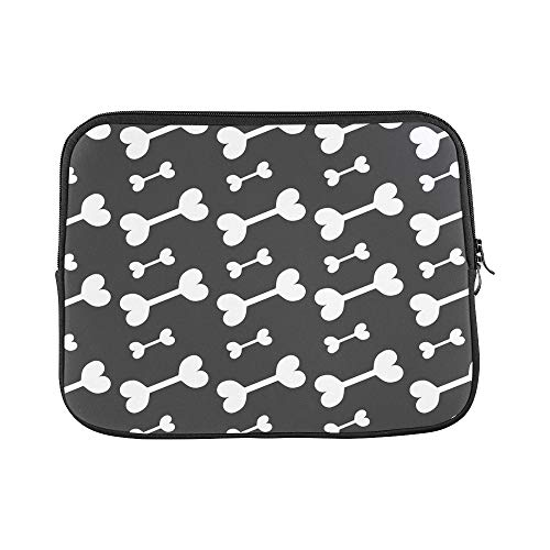 Design Custom Halloween Bones Bones Black Sleeve Soft Laptop Case Bag Pouch Skin for MacBook Air 11