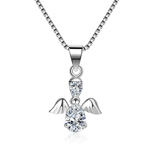 BEAUTY Charm ANGEL and WING 925 Sterling Silver Pendant For Lady And Girl GIFT Fit (Making Angel Wings For Costume)