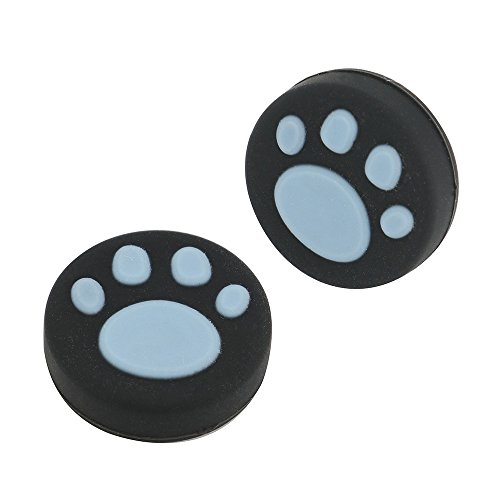2PCS Silicone Analog Controller Thumb Stick Grips Cap For Nintendo Switch NS Controller Joy-Con ThumbStick(2 PCS Blue Cute Cat Paw Claw)