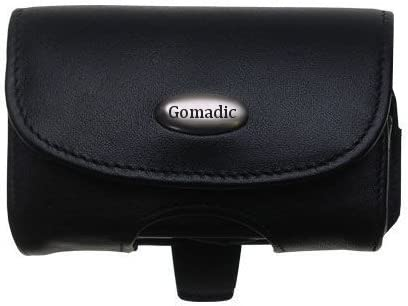 Gomadic Brand Horizontal Black Leather Carrying Case for The GoPro Hero3 with Integrated Belt Loop and Optional Belt Clip