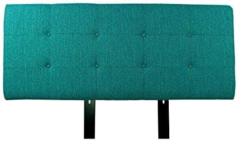 MJL Furniture Designs Ali Collection Olivia Series Upholstered, Tufted and Padded Eastern King Size Headboard Contemporary Styled Bedroom D cor, Eastern King Size, Teal