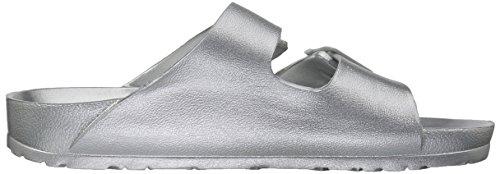Damen Skechers31686 Zum Reinschlüpfen Riemen Zwei Silber Sandale Breeze Cali Glow Power HzSfH