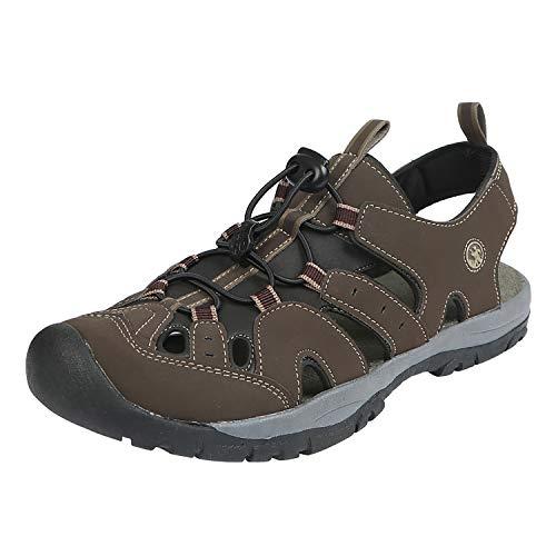 Northside Mens Burke II Sport Athletic Sandal, Dark Brown, 8 M US (Toe Closed Fisherman Sandal)