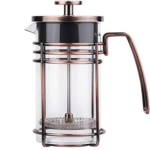 (ZaKura Large French Press Coffee Maker, Tea Maker, Stainless Steel Filter, 34 Ounce/1 Liter, Copper)