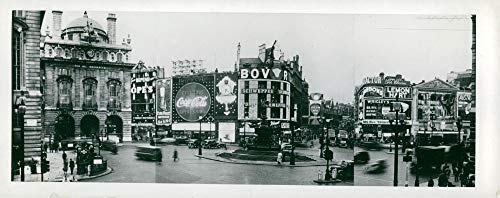 Vintage photo of London PiccaDilly and The Circus.